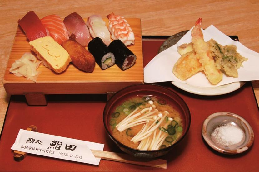 お昼の寿司ランチセット