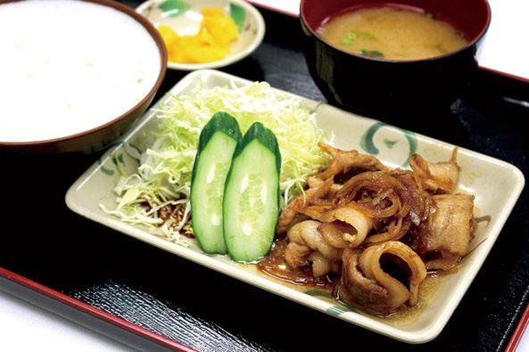 伊勢美稲豚生姜焼き定食