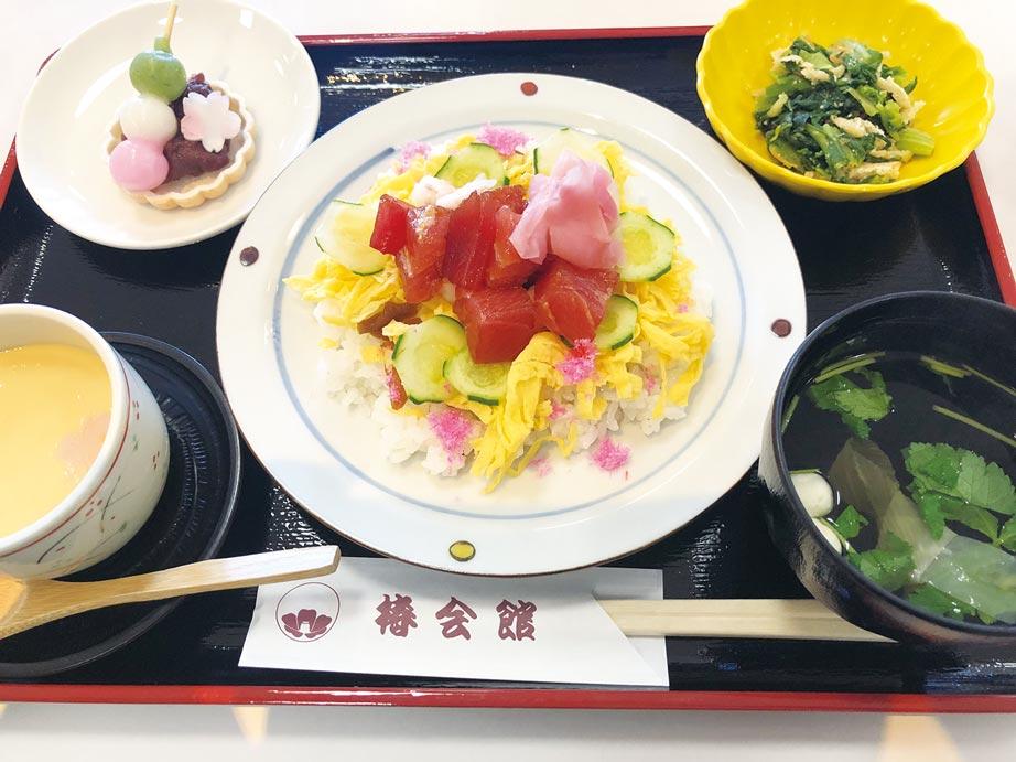 お花見ちらし寿司(月替りランチ)