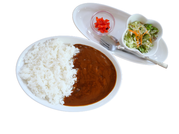 ビーフカレー(サラダ付き)
